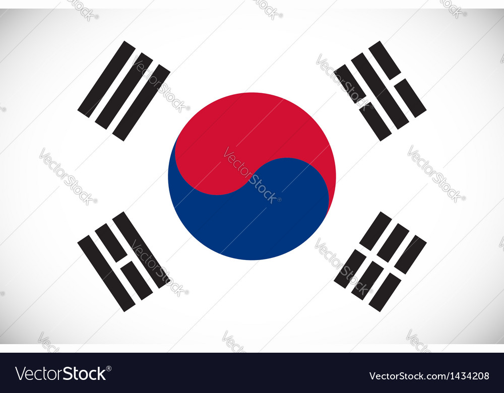 National flag of south korea vector | Price: 1 Credit (USD $1)