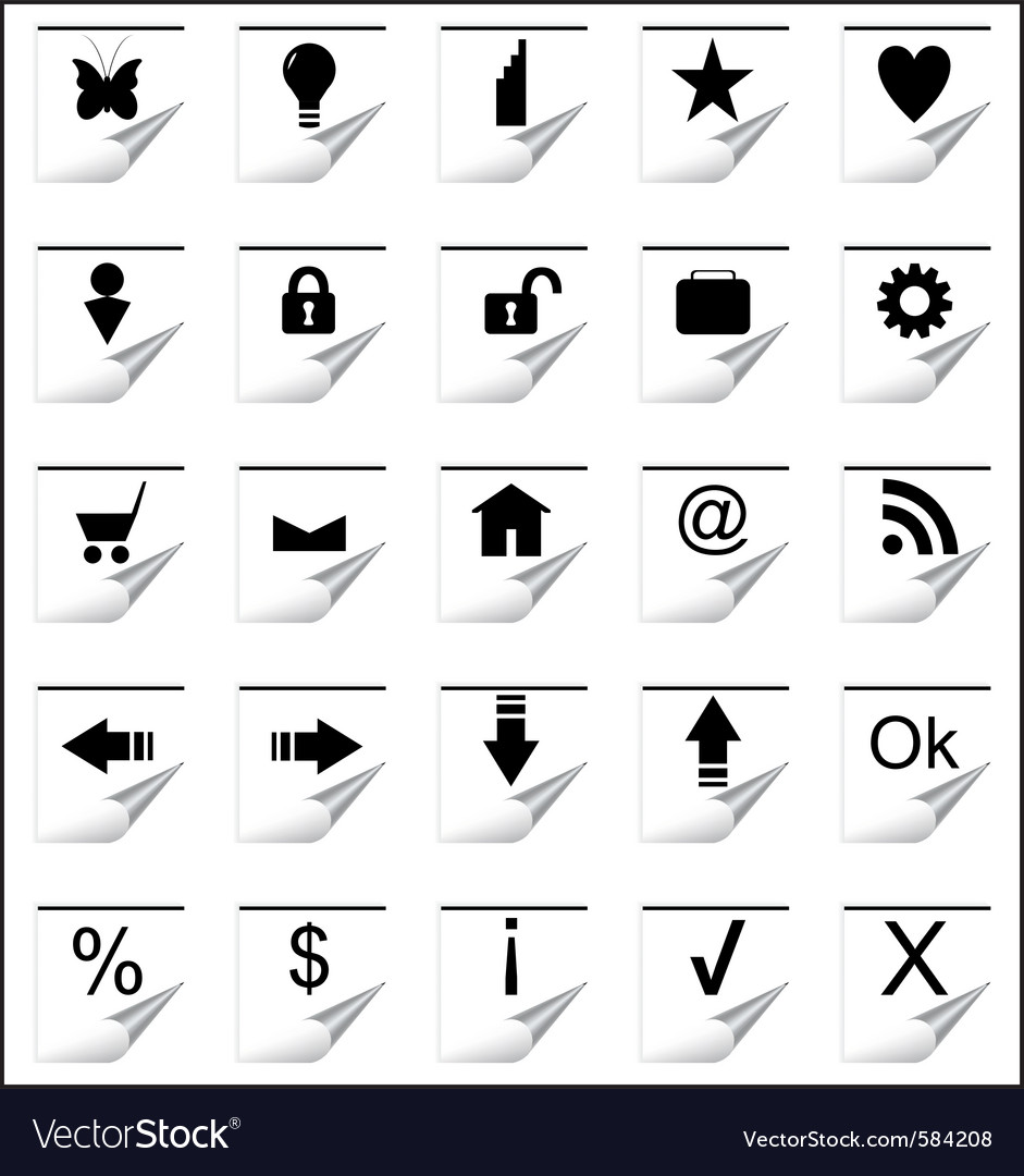 Paper icons vector | Price: 1 Credit (USD $1)