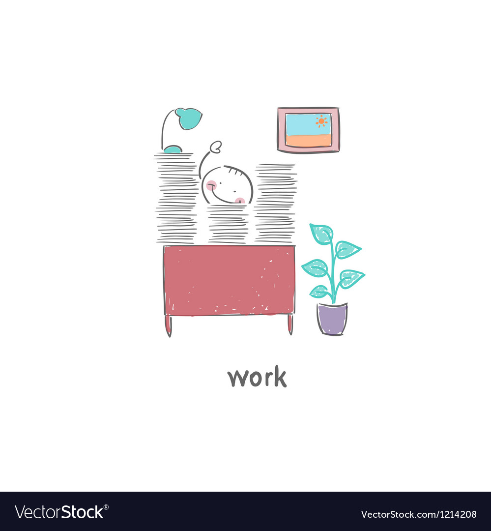 People working in the office vector | Price: 1 Credit (USD $1)