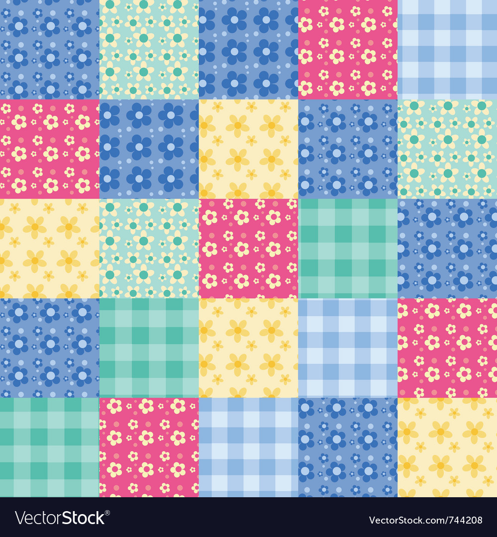 Seamless patchwork vector | Price: 1 Credit (USD $1)