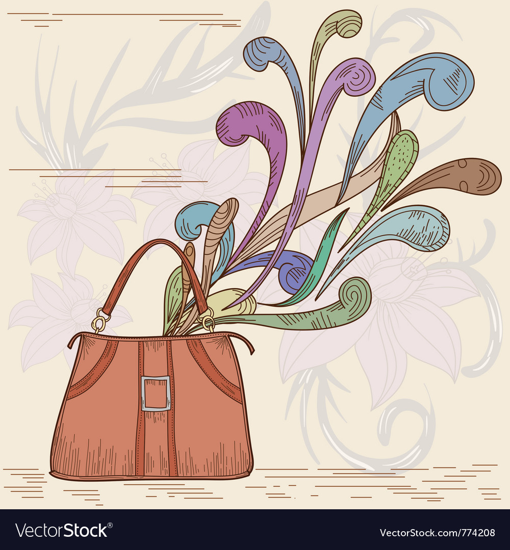 Womans bag vector | Price: 1 Credit (USD $1)