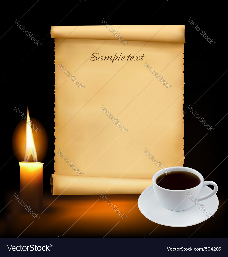 Background with cup of coffee vector | Price: 3 Credit (USD $3)