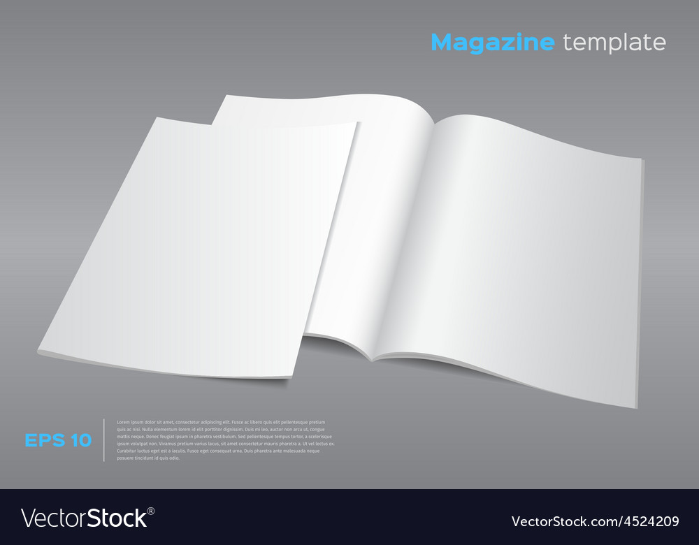 Blank magazine mockup template vector | Price: 1 Credit (USD $1)