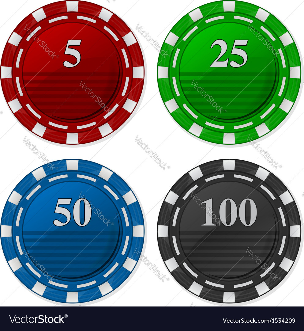 Cards chips poker with number vector | Price: 1 Credit (USD $1)