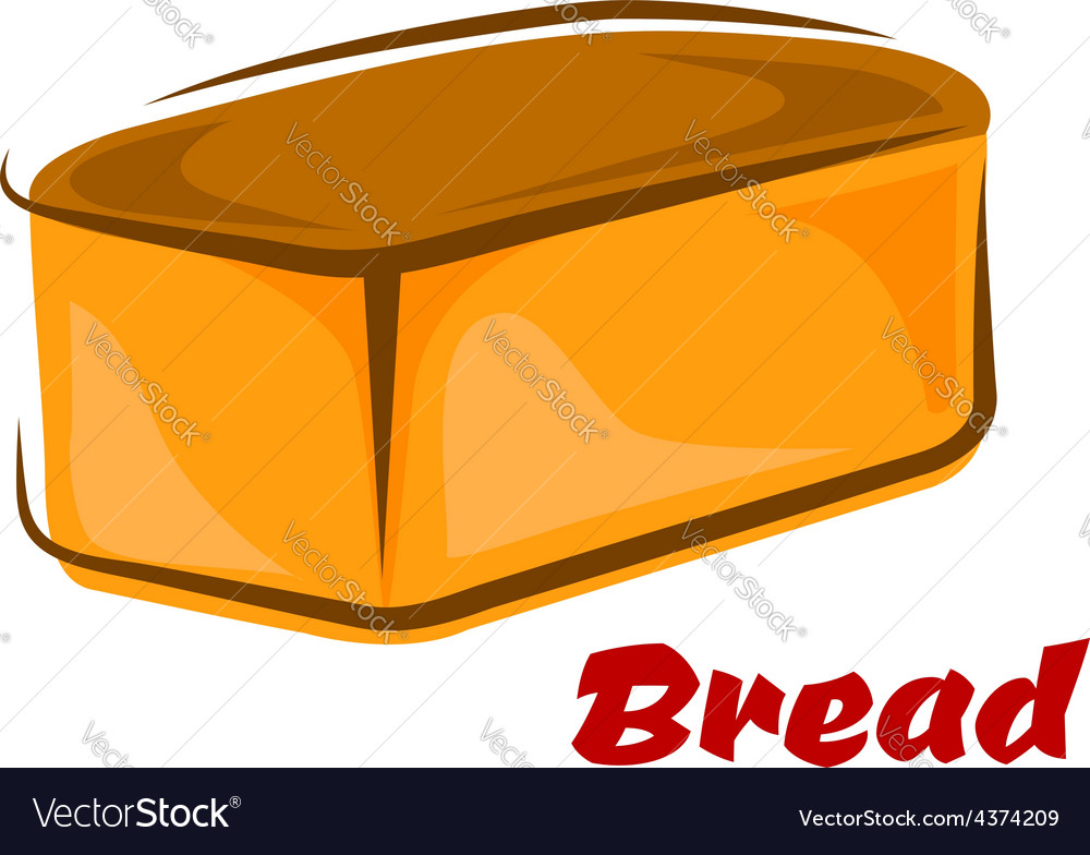 Cartoon loaf of white wheat bread vector | Price: 1 Credit (USD $1)