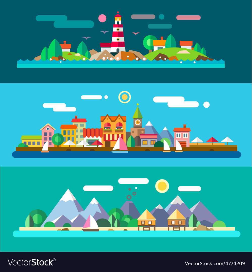 Landscapes by the sea vector   Price: 3 Credit (USD $3)