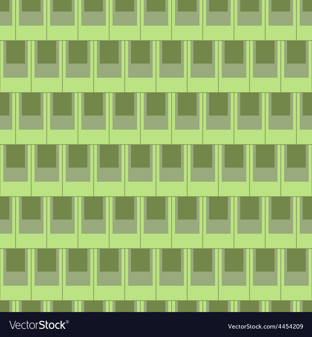 Seamless rectangular tile pattern-green vector | Price: 1 Credit (USD $1)