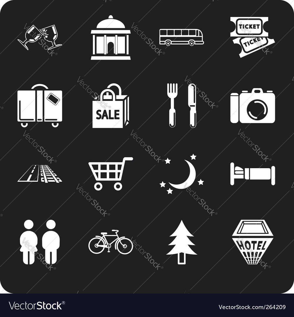 Tourism and city icons vector | Price: 1 Credit (USD $1)