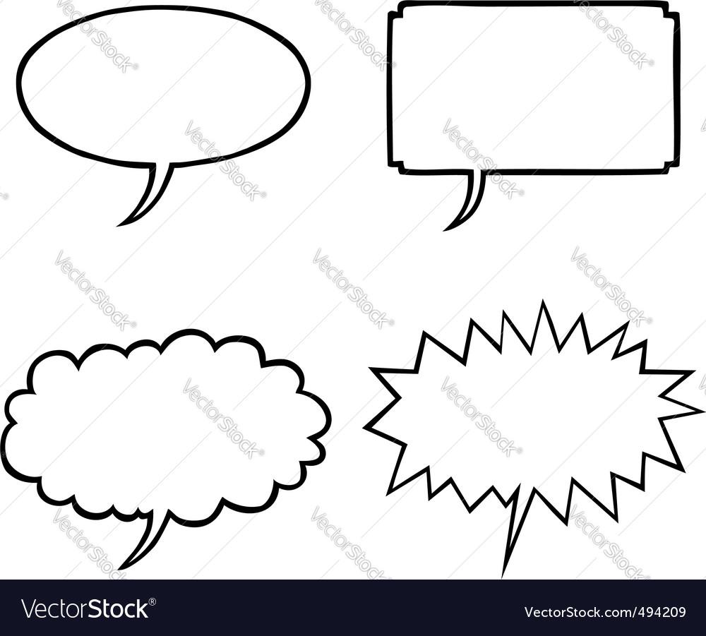 Various speech bubbles vector