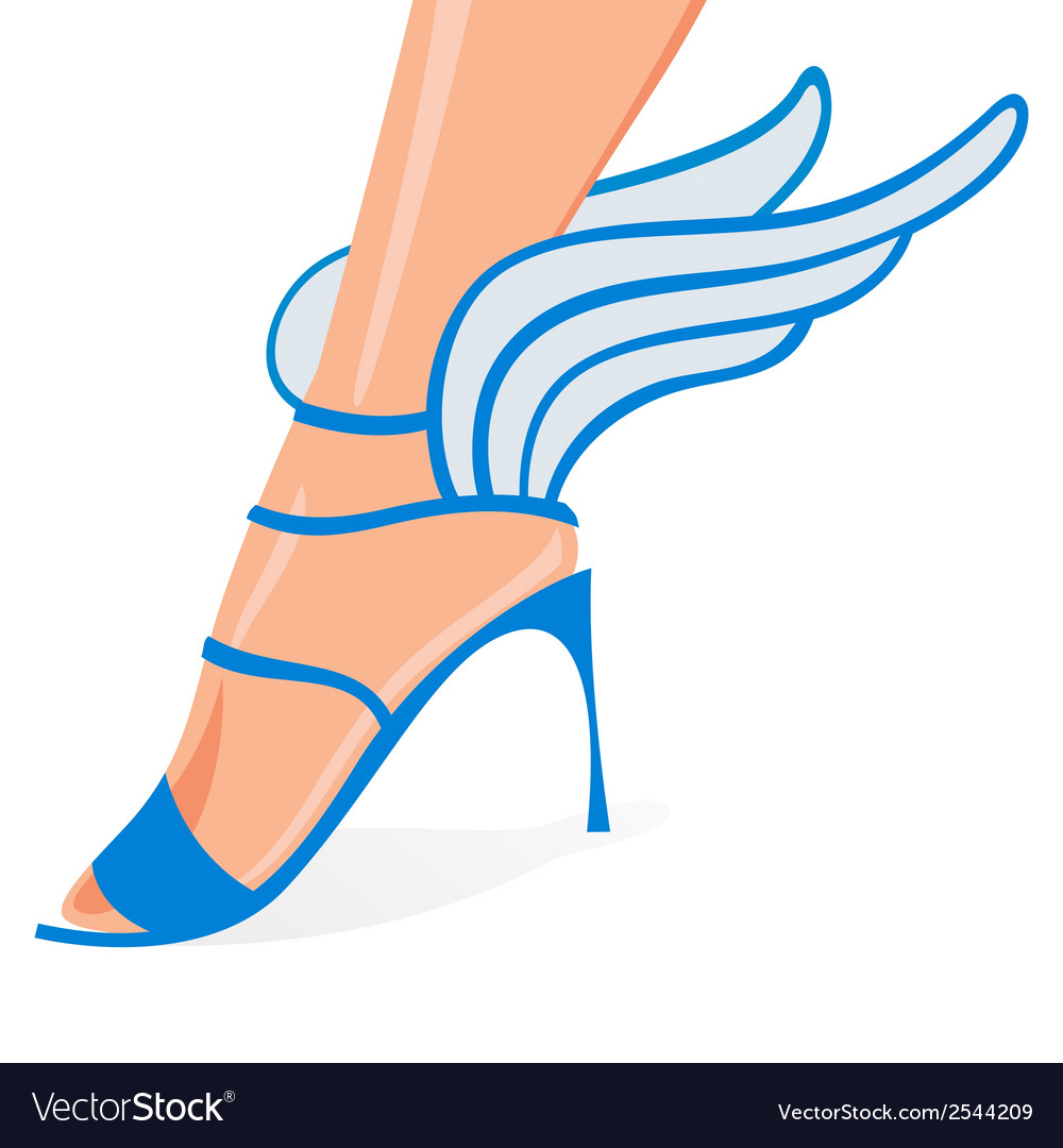 Winged woman shoes vector | Price: 1 Credit (USD $1)