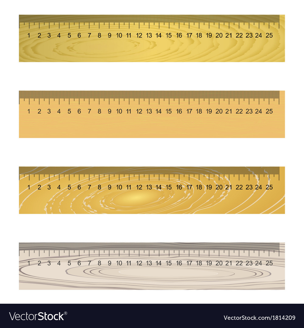 Wooden ruler vector | Price: 1 Credit (USD $1)