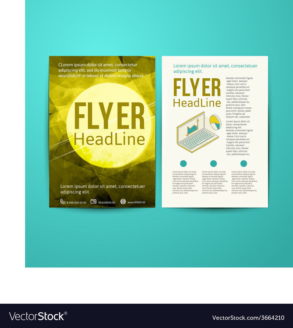 Abstract brochure flyer design template vector   Price: 1 Credit (USD $1)