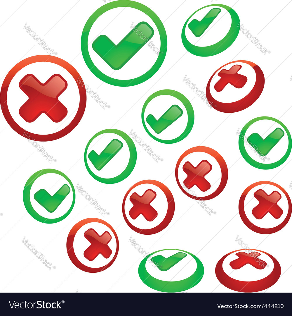Approved and rejected vector | Price: 1 Credit (USD $1)