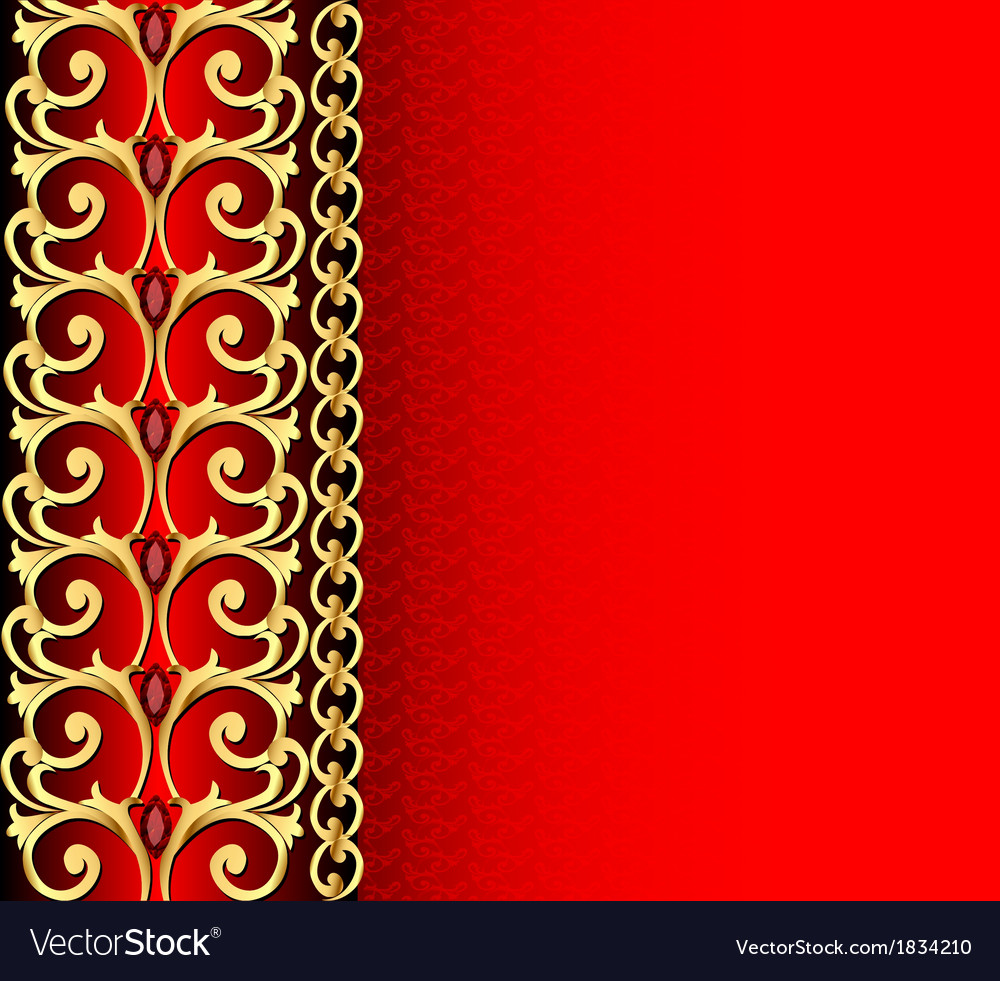 Background with gold ornament vector | Price: 1 Credit (USD $1)