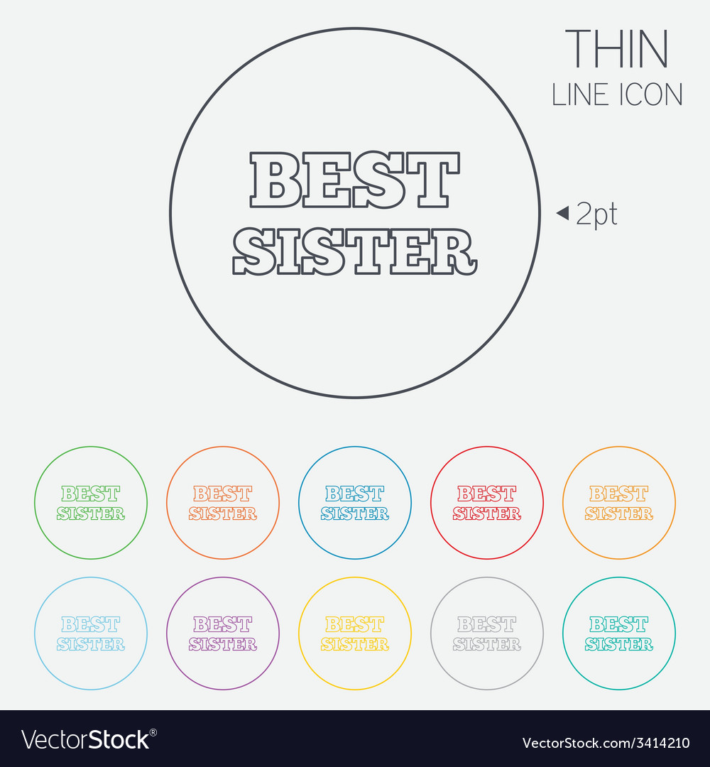 Best sister sign icon award symbol vector | Price: 1 Credit (USD $1)