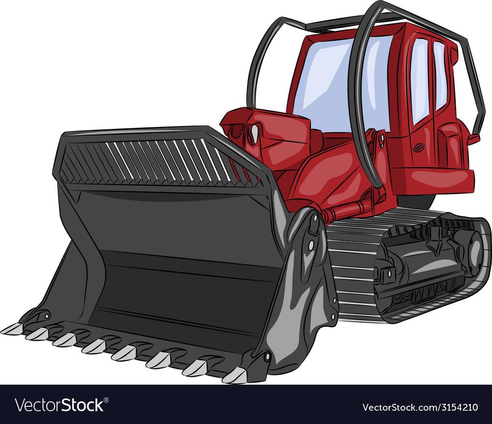 Bulldozer a vector | Price: 1 Credit (USD $1)