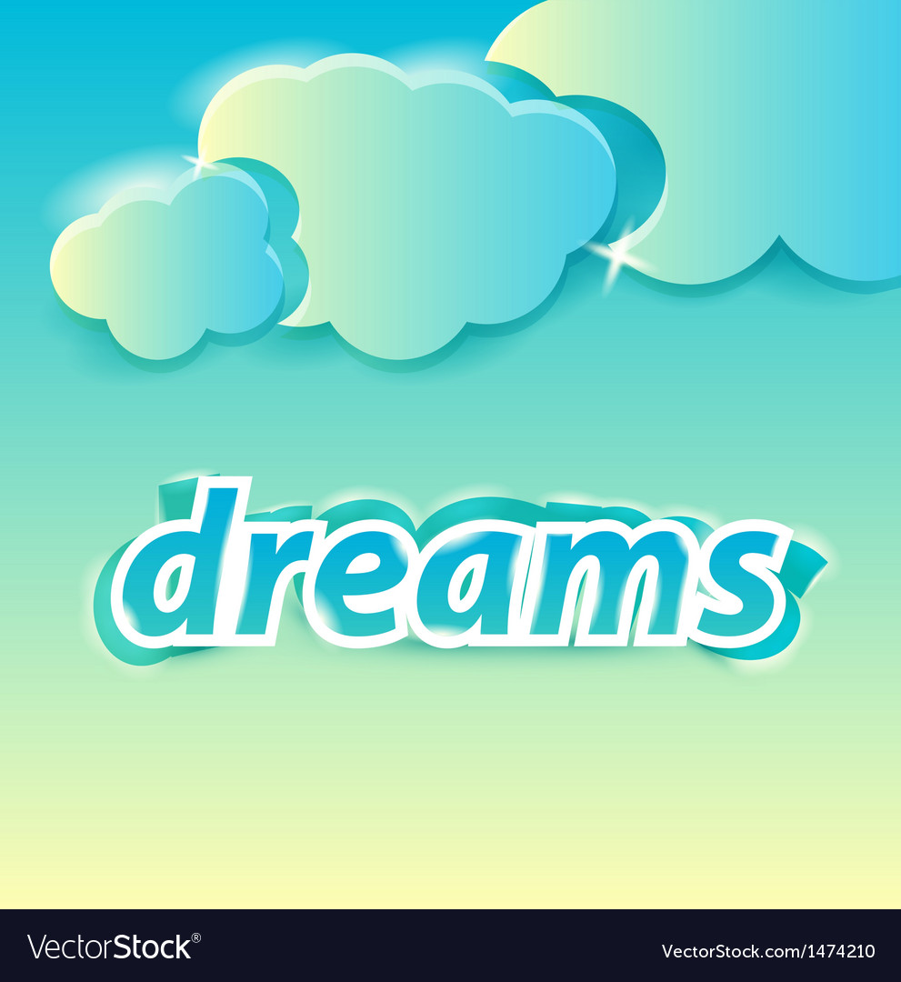 Dreams lettering vector | Price: 1 Credit (USD $1)