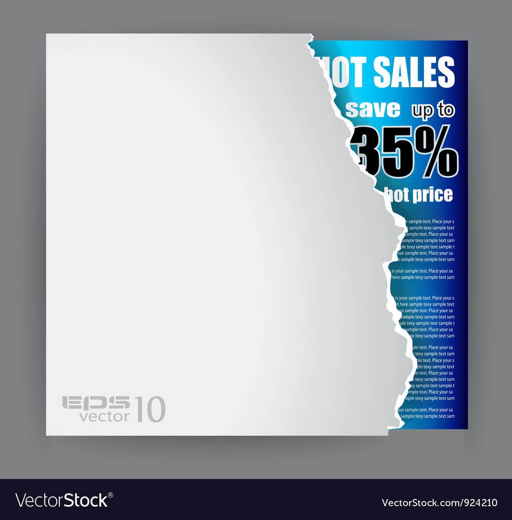 Evoloped sales promotional poster vector | Price: 1 Credit (USD $1)