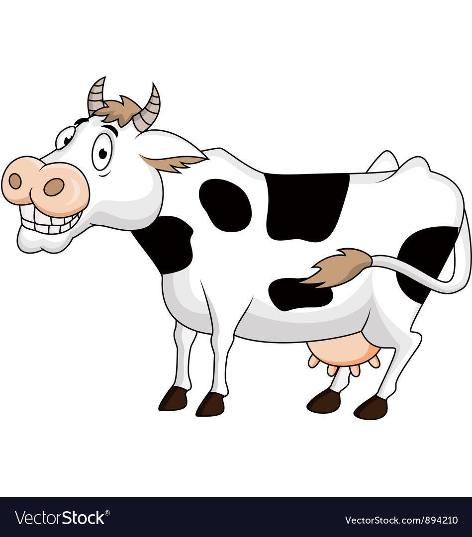 Funny cow cartoon vector | Price: 3 Credit (USD $3)