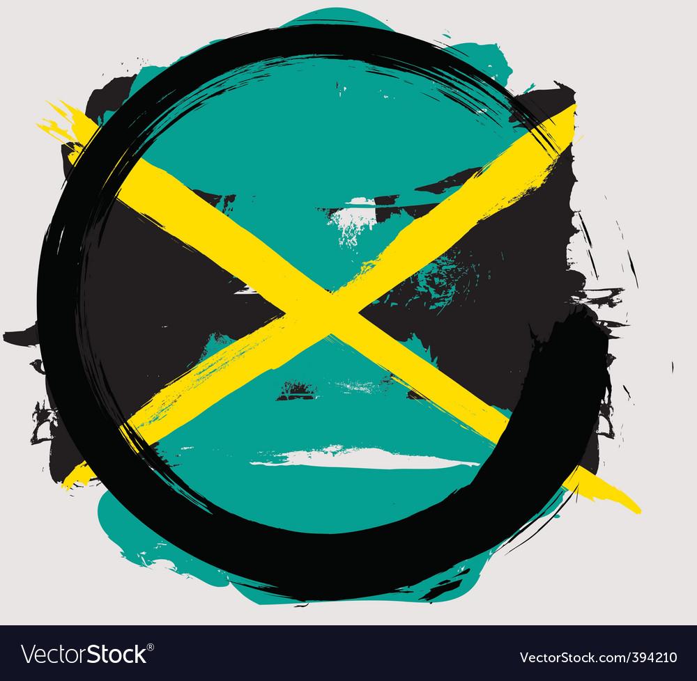 Jamaica circle flag vector | Price: 1 Credit (USD $1)