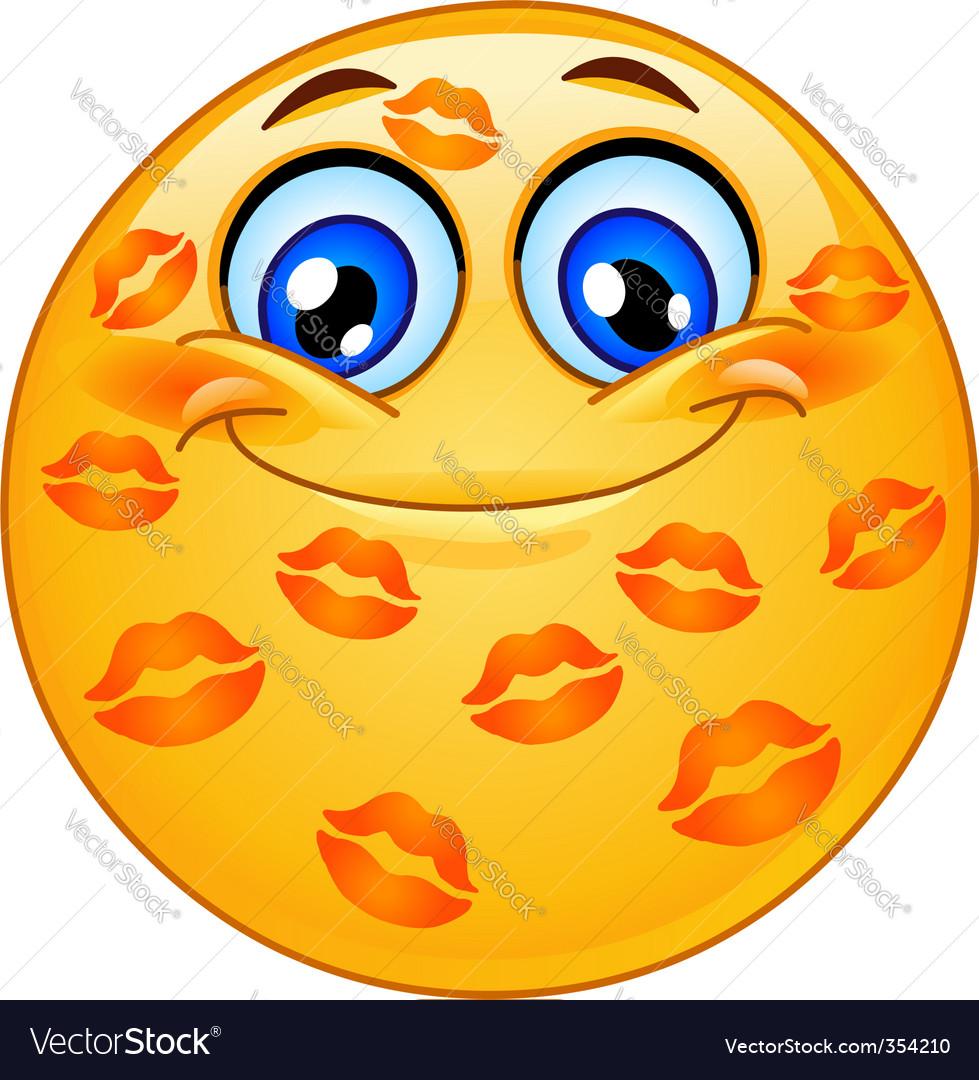 Kissed emoticon vector | Price: 3 Credit (USD $3)