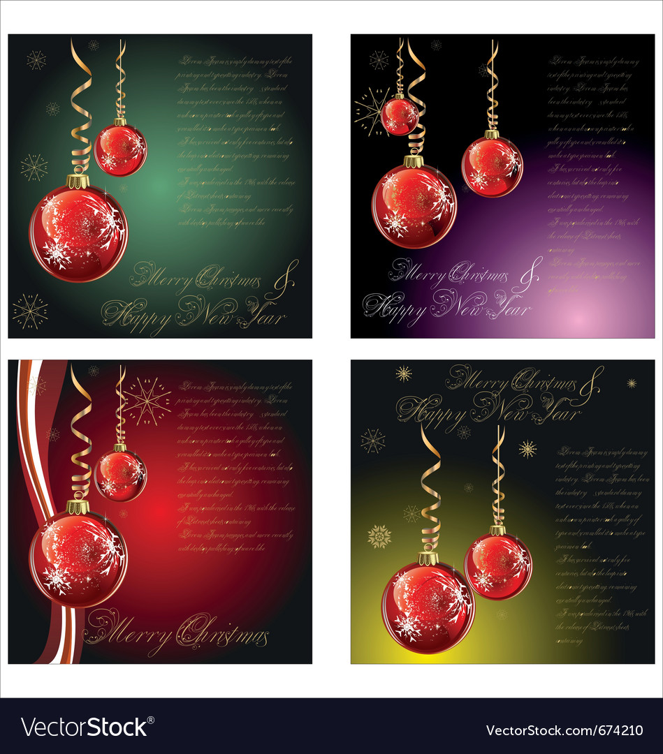 Merry-christmas-background set vector | Price: 1 Credit (USD $1)