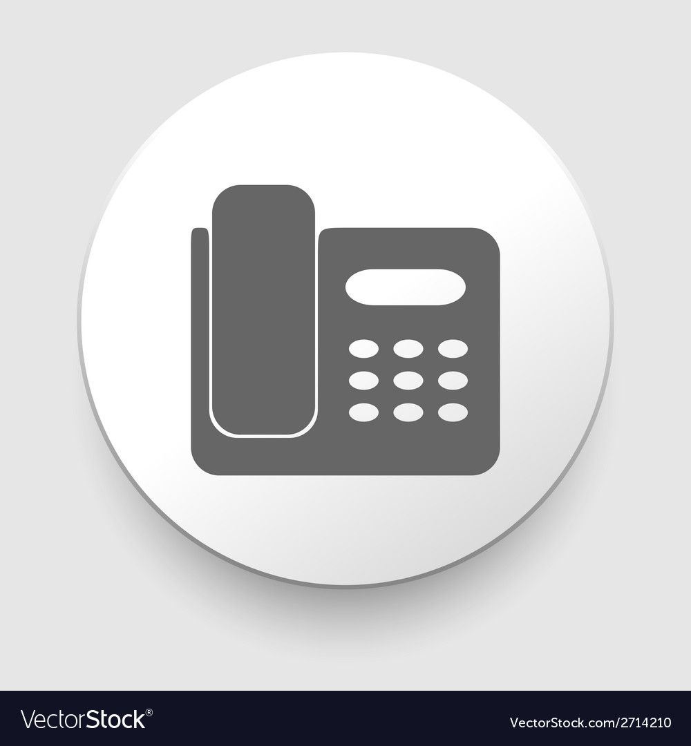 Office phone icon vector | Price: 1 Credit (USD $1)