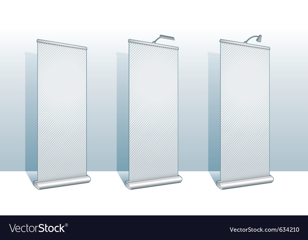 Roll up banner display vector | Price: 1 Credit (USD $1)