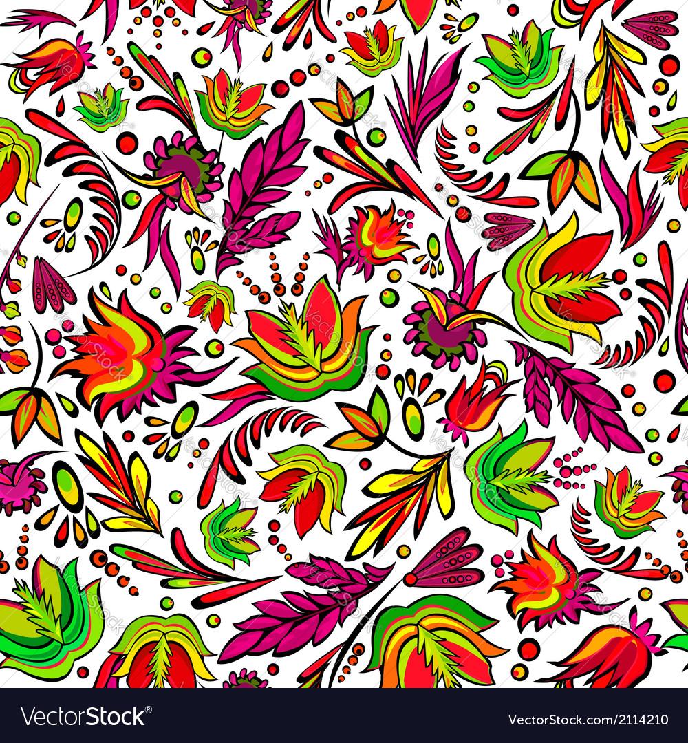 Seamless cartoon hand-drawn pattern vector | Price: 1 Credit (USD $1)