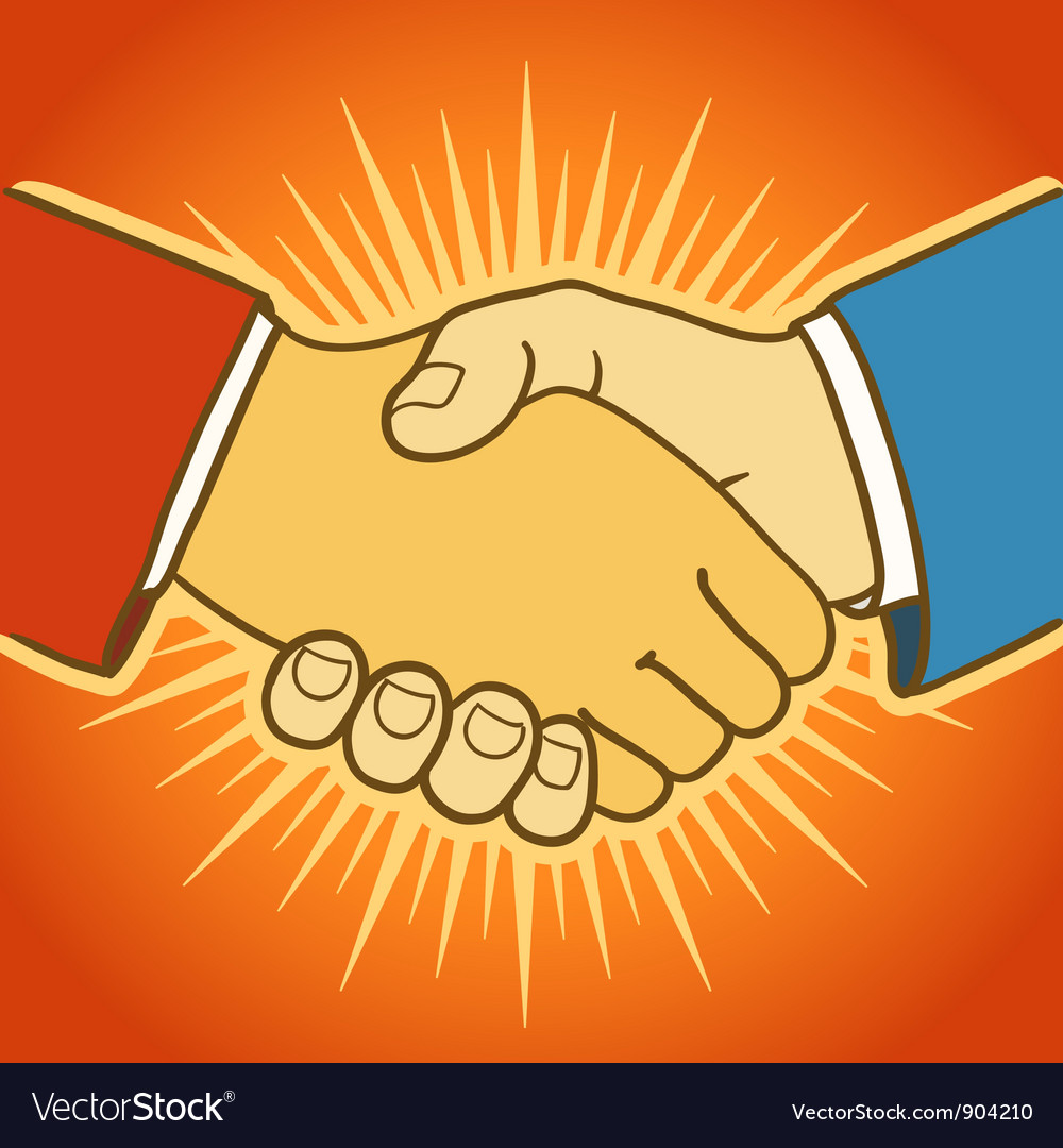Shaking hands vector | Price: 1 Credit (USD $1)