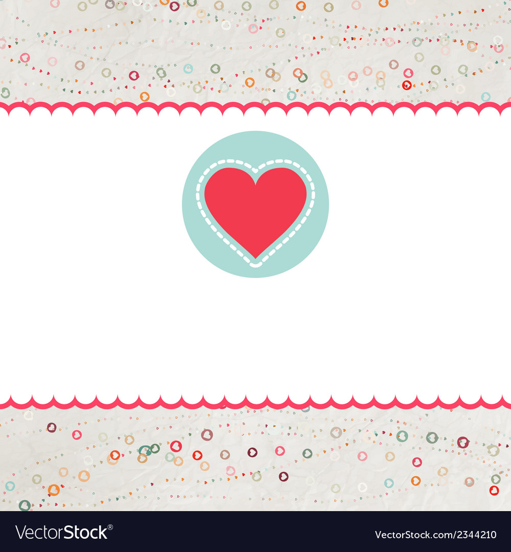 Valentine card with heart eps 8 vector | Price: 1 Credit (USD $1)