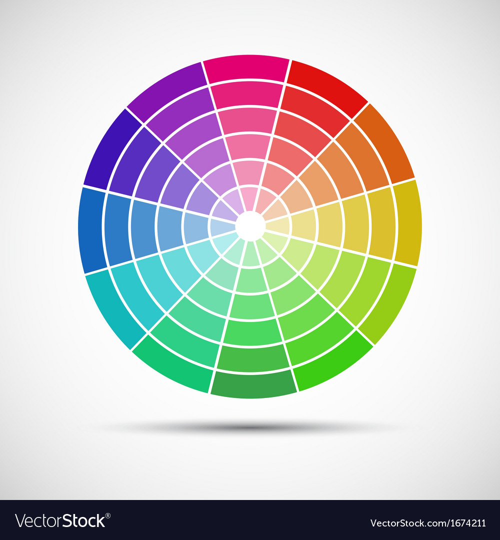 Color round palette on gray background vector | Price: 1 Credit (USD $1)