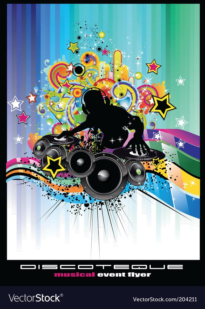 Disco poster vector | Price: 3 Credit (USD $3)