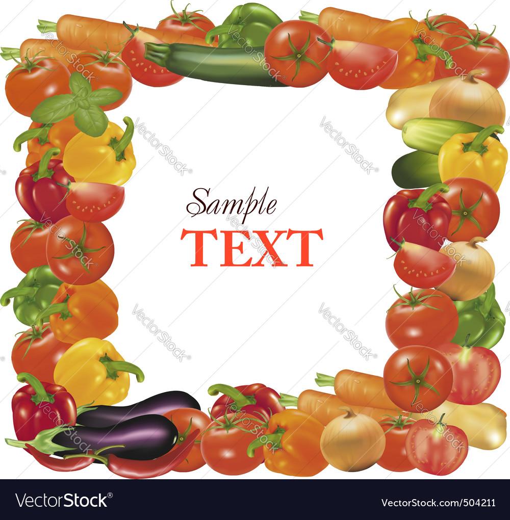 Fresh vegetables vector | Price: 1 Credit (USD $1)