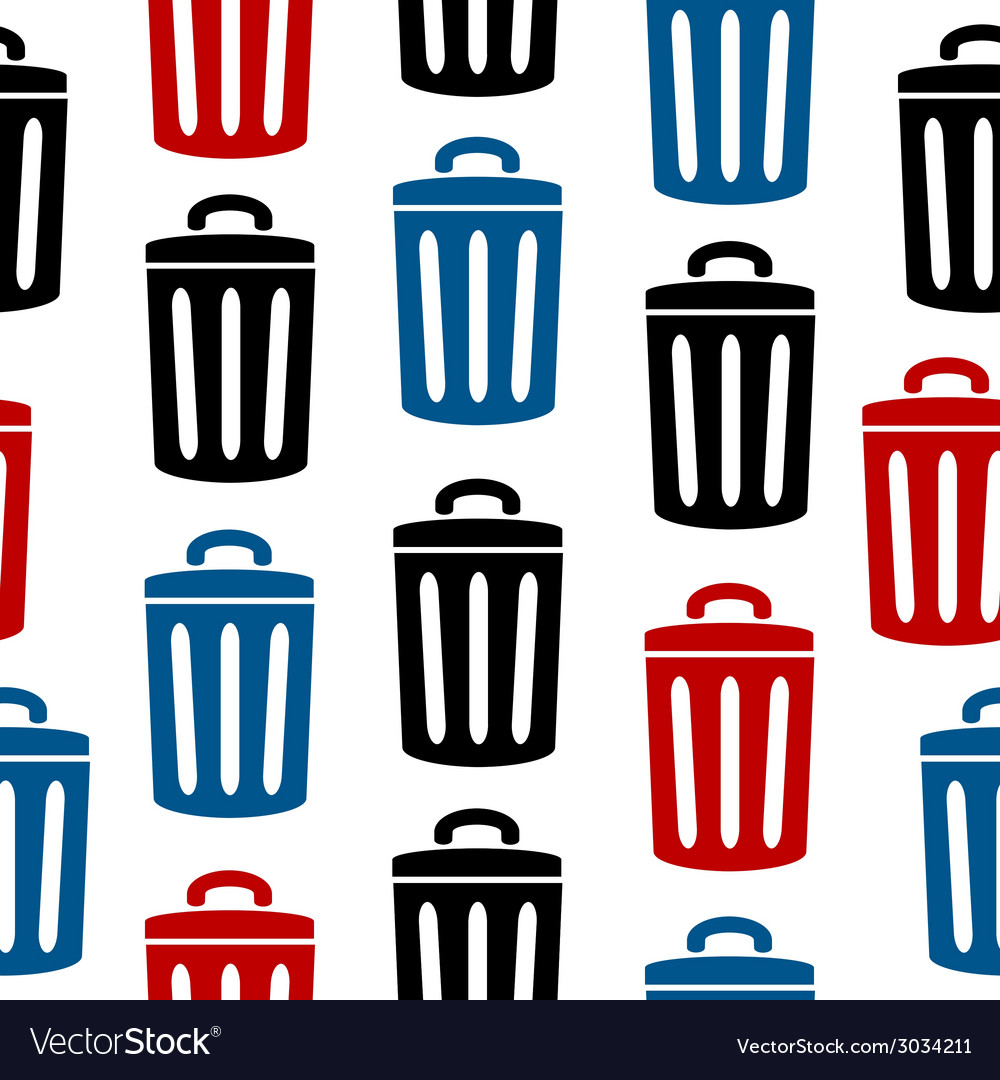Garbage icon seamless pattern vector | Price: 1 Credit (USD $1)