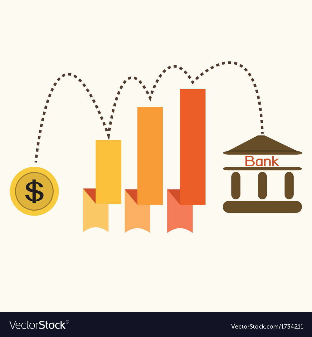 Saving moneydollar chart vector | Price: 1 Credit (USD $1)