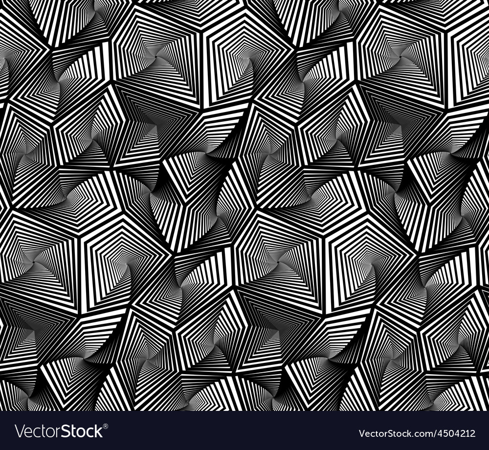 Abstract geometric triangular seamless pattern vector | Price: 1 Credit (USD $1)