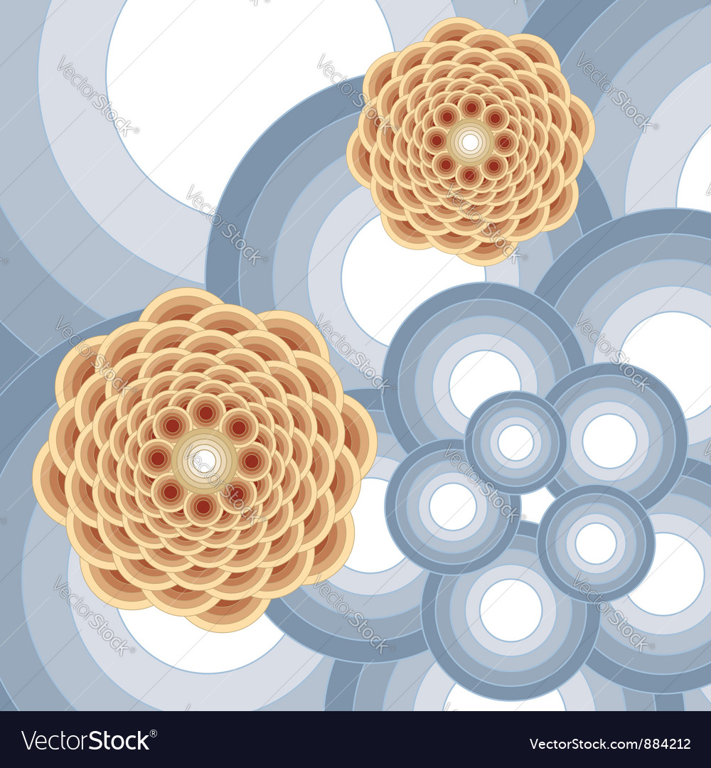 Abstract round flower vector | Price: 1 Credit (USD $1)