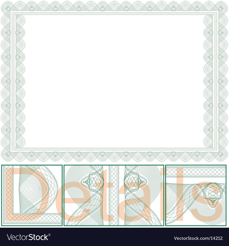 Certificate border vector | Price: 1 Credit (USD $1)