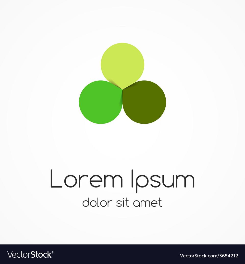 Circle green leaves logo eco sign symbol vector   Price: 1 Credit (USD $1)