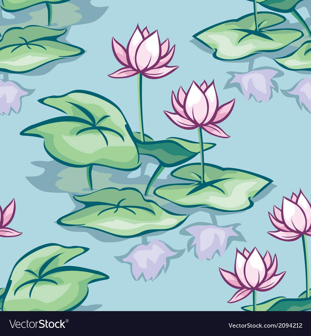 Lotus seamless vector | Price: 1 Credit (USD $1)
