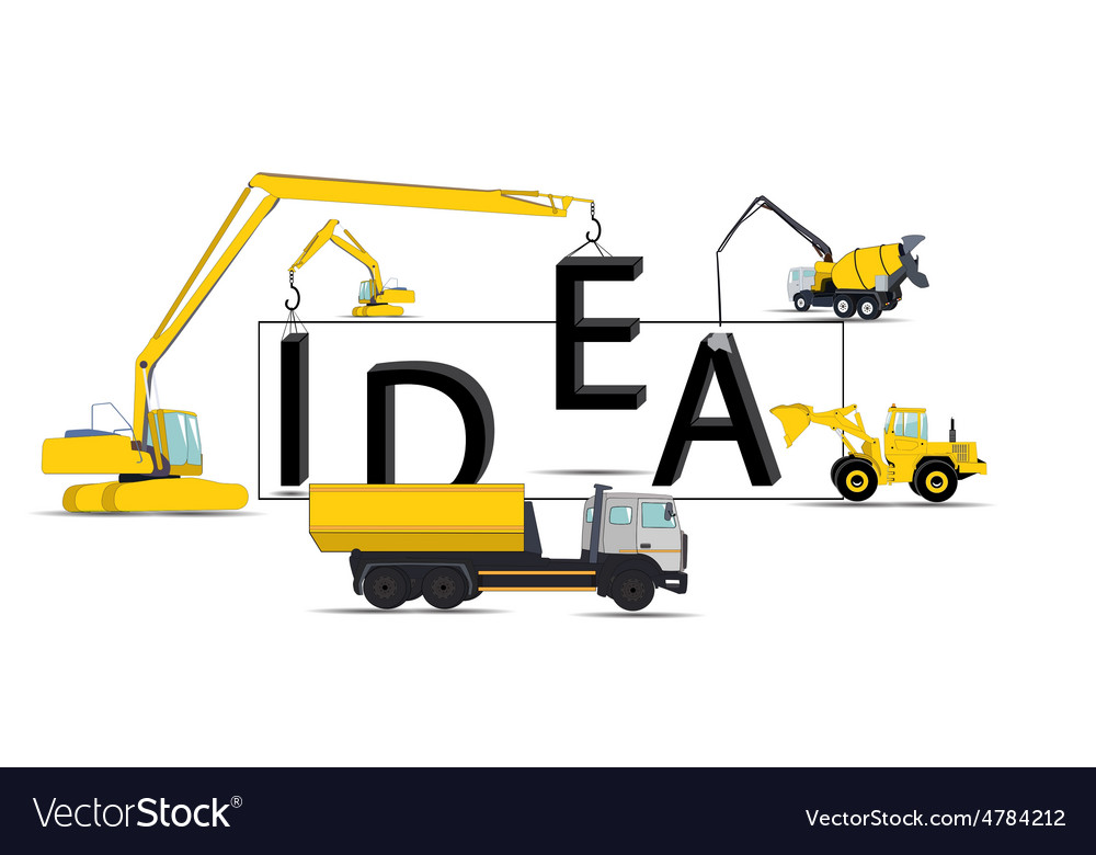 Modern idea concept for your business vector