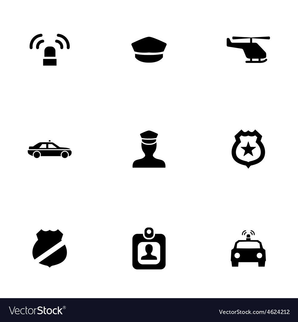 Police 9 icons set vector | Price: 1 Credit (USD $1)