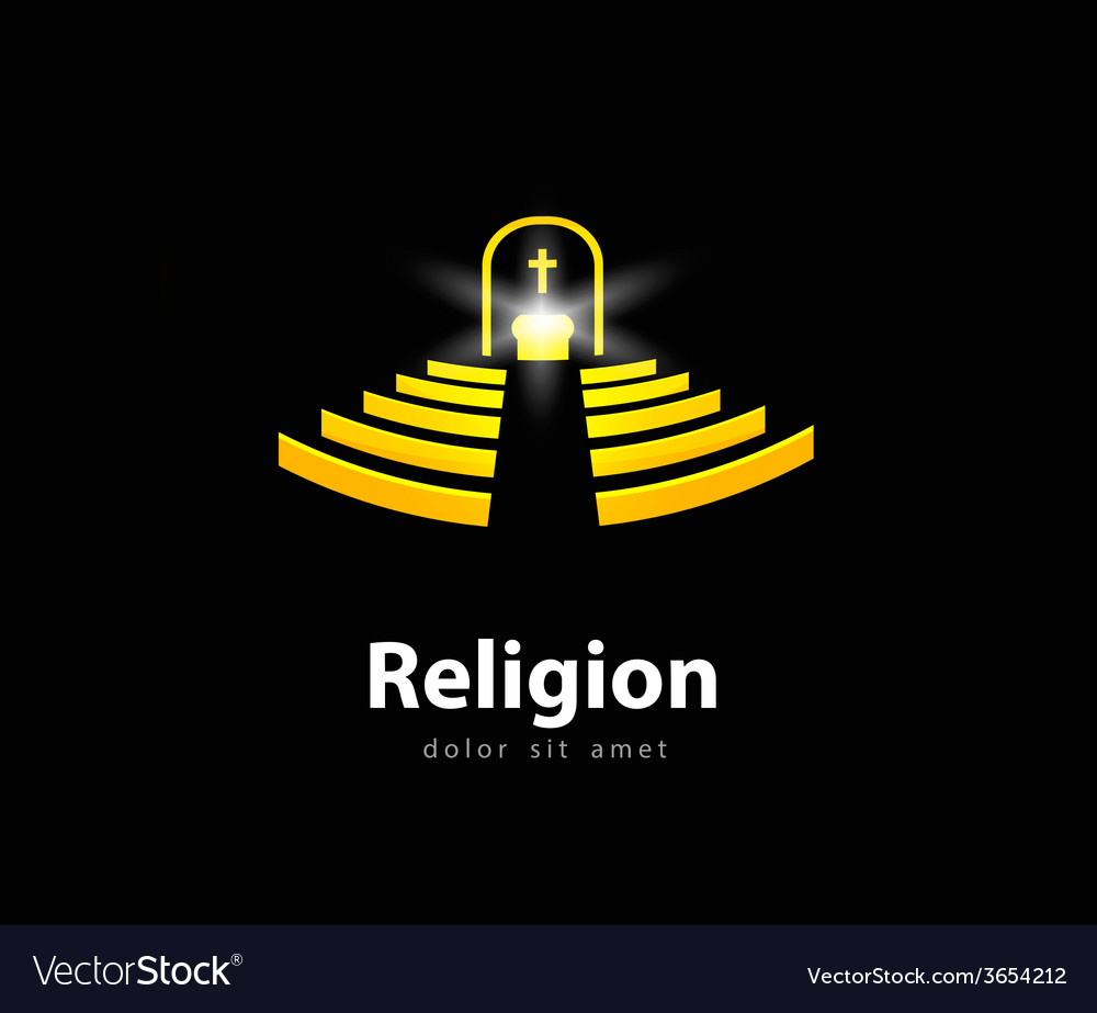 Religion logo design template church or temple vector | Price: 1 Credit (USD $1)