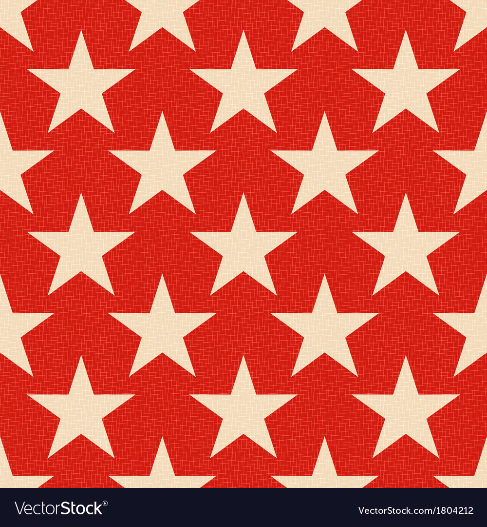 Seamless red stars background vector | Price: 1 Credit (USD $1)