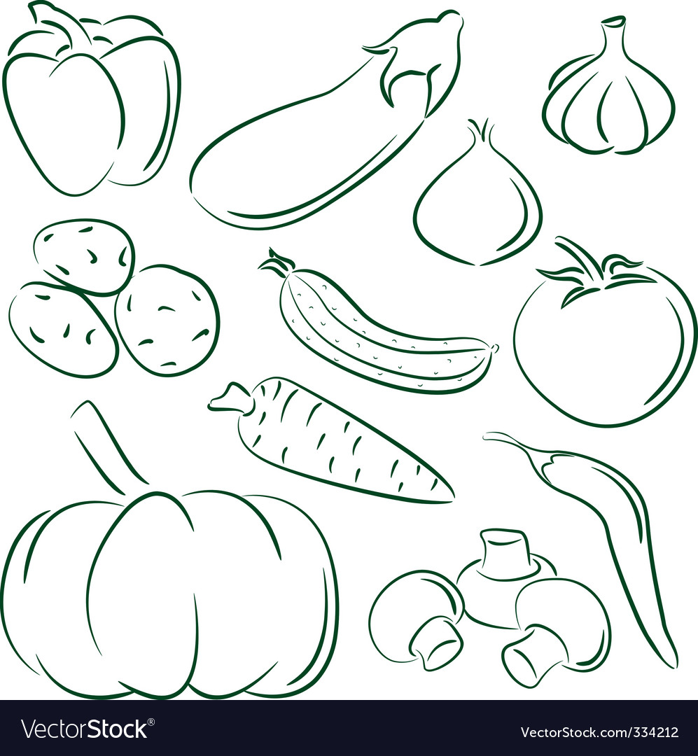 Vegetable doodles vector | Price: 1 Credit (USD $1)
