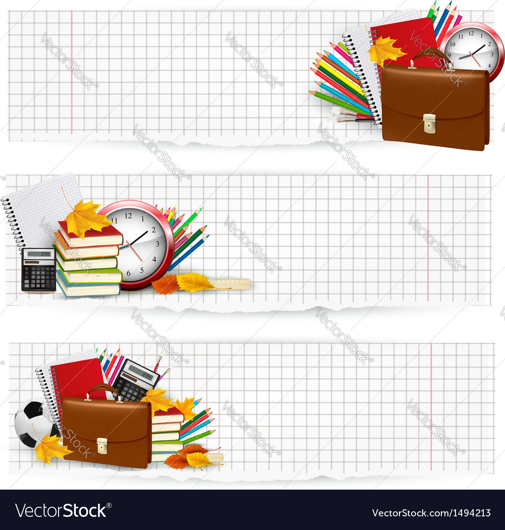 Back to school supplies vector | Price: 1 Credit (USD $1)