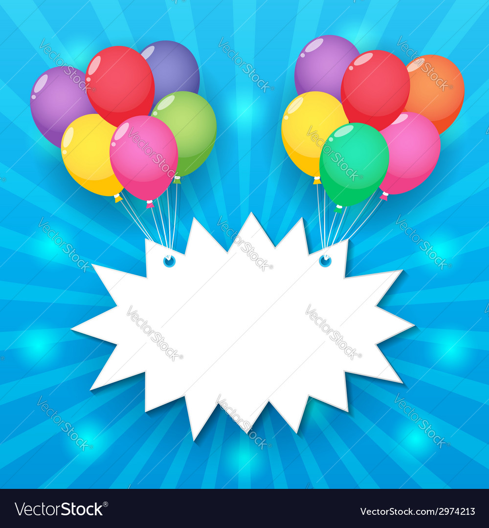 Balloon sky background vector | Price: 1 Credit (USD $1)