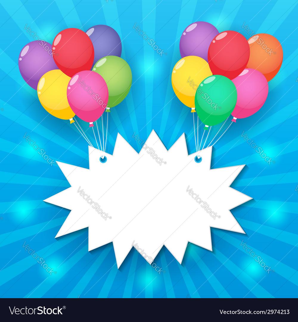 Balloon sky background vector | Price: 1 Credit (USD $1)