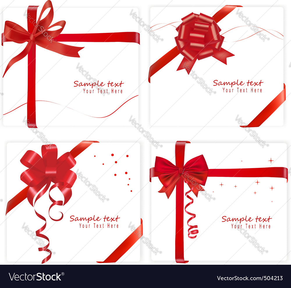 Big set with bows and ribbons vector | Price: 1 Credit (USD $1)